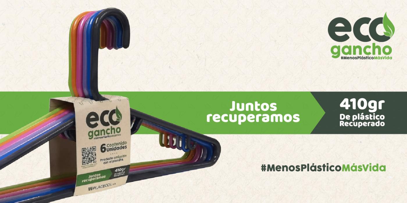 Eco Ganchos nuestro producto con plástico reutilizable